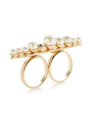 Anton Heunis Pearl Cluster Ring Gold Plated