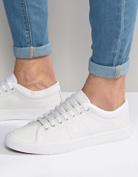 Fred Perry Kendrick Cuff Leather Plimsolls White