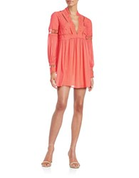 Free People Dreamland Floral Dress Coral
