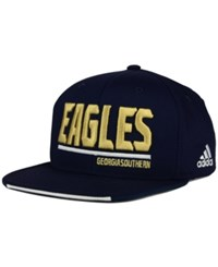Adidas Georgia Southern Eagles Travel Flat Brim Snapback Cap Navy