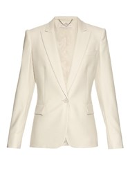Stella Mccartney Ingrid Single Breasted Wool Jacket Beige