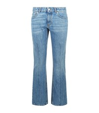 Alexander Mcqueen Cropped Flare Jeans Female Blue