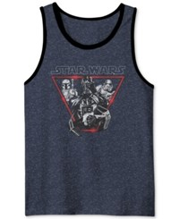 Men's Star Wars Darth Vader Go Imperial Graphic Print Tank From Jem Navy Speckle