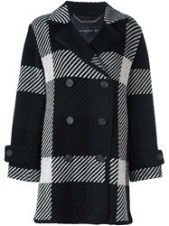 Barbara Bui Checked Coat Black