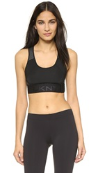 Dkny Logo Sports Bra Black Grey