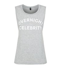 Private Party Overnight Celebrity Muscle Tank Female Grey