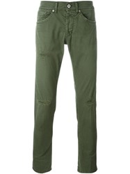 Dondup Distressed Slim Jeans Green