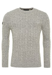 Superdry Harlo Cable Crew Neck Jumper Grey