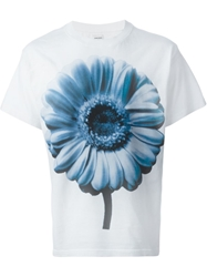 Diesel Flower Print T Shirt White