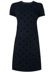 Paul Smith Ps By Polka Dot Fitted Dress Blue
