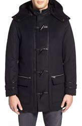 Men's Lamarque Leather Trim Duffle Coat