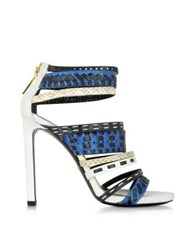 Roberto Cavalli Althea Ayers And Leather Sandal Multicolor