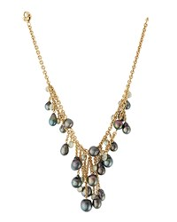 Assael 18K Layered Tahitian Pearl And Moonstone Drop Necklace Women's