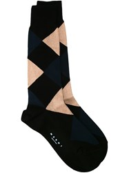 Marni Diamond Pattern Short Socks Multicolour