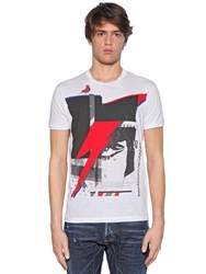 Dsquared Lightening Printed Cotton Jersey T Shirt