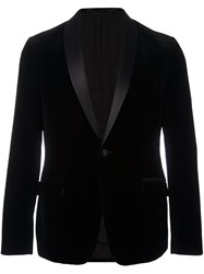 Z Zegna Velvet Shawl Collar Tuxedo Jacket Black