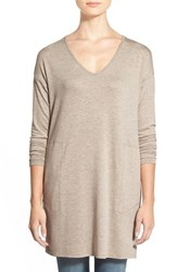 Women's Gibson V Neck Tunic With Pockets