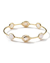 Ippolita 18K Ondine 6 Stone Bangle In Mother Of Pearl Doublet And Slice Gold