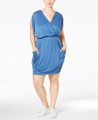 Rachel Roy Curvy Plus Size 24 Hour Draped Dress Dark Blue