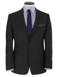 Daniel Hechter Semi Plain Pindot Tailored Suit Jacket Charcoal