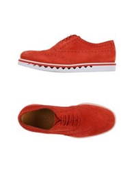 Emporio Armani Lace Up Shoes Red