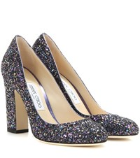 Jimmy Choo Billie 100 Glitter Pumps Purple