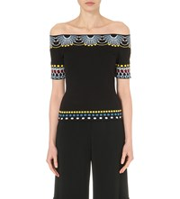 Peter Pilotto Off The Shoulder Knitted Top Black