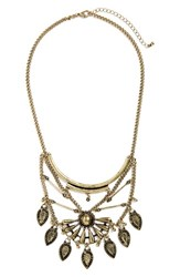 Junior Women's Bp. 'Teardrop Sunburst' Statement Necklace Gold
