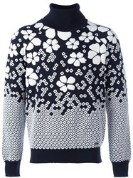 Dsquared2 Embroidered Floral Jumper Black