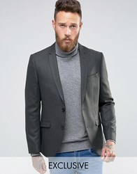 Heart And Dagger Skinny Blazer In Tweed Khaki Green