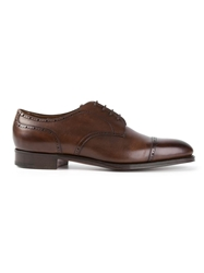 Edward Green 'Wells' Derbie Shoes Brown