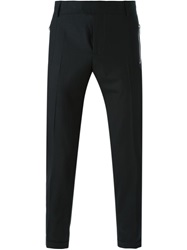 Les Hommes Slim Fit Trousers Black