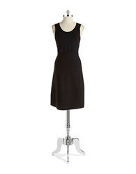 Anne Klein Knit Fit And Flare Dress Black