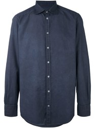 Massimo Alba Long Sleeve Shirt Blue