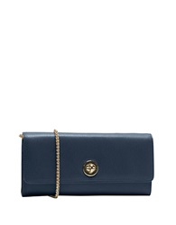 Tusk Madison Saffiano Leather Clutch Wallet Navy