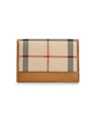 Burberry Check Card Holder Tan Plaid