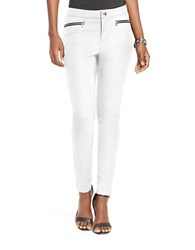 Lauren Ralph Lauren Zip Pocket Skinny Pants White