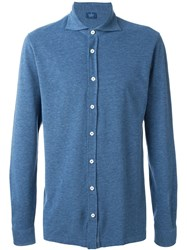 Barba Piquet Shirt Blue