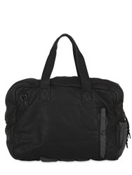 Allsaints Shoto Soft Leather And Nylon Hold All Bag