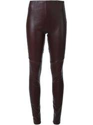 Scanlan Theodore Stretch Leather Leggings Brown