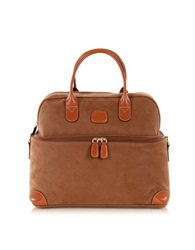 Bric's Life Camel Micro Suede Beauty Case Bag