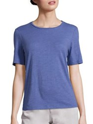 Eileen Fisher Organic Cotton Crewneck Tee Periwinkle