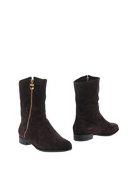 Dibrera By Paolo Zanoli Footwear Ankle Boots Women Dark Brown