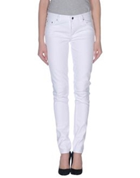 Blk Dnm Denim Pants White