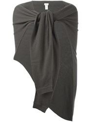 Christophe Lemaire Asymetrical Scarf Grey