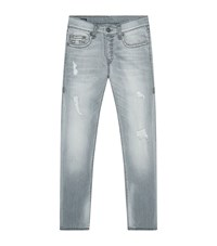 True Religion Rocco Relaxed Skinny Jeans Male Light Grey