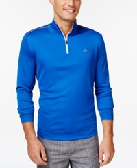 Greg Norman For Tasso Elba 1 4 Zip Pullover Hyper Blue