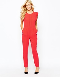 Oasis Tailored Jumpsuit Brightred