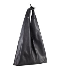 The Row Bindle Calf Leather Hobo Bag Black Pattern