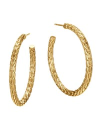 Classic Chain 18K Gold Medium Hoop Earrings